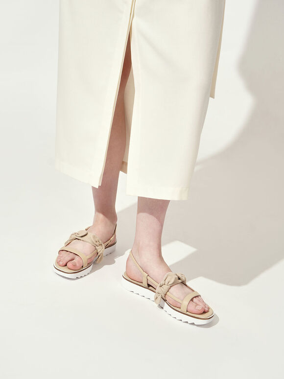 The Purpose Collection - Linen Knot Flatforms, Cream, hi-res