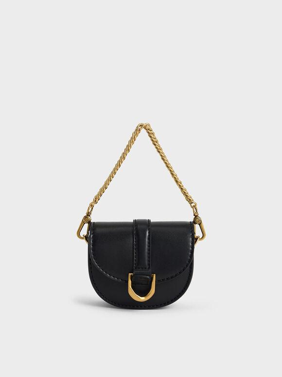 Micro Gabine Saddle Bag, Black, hi-res
