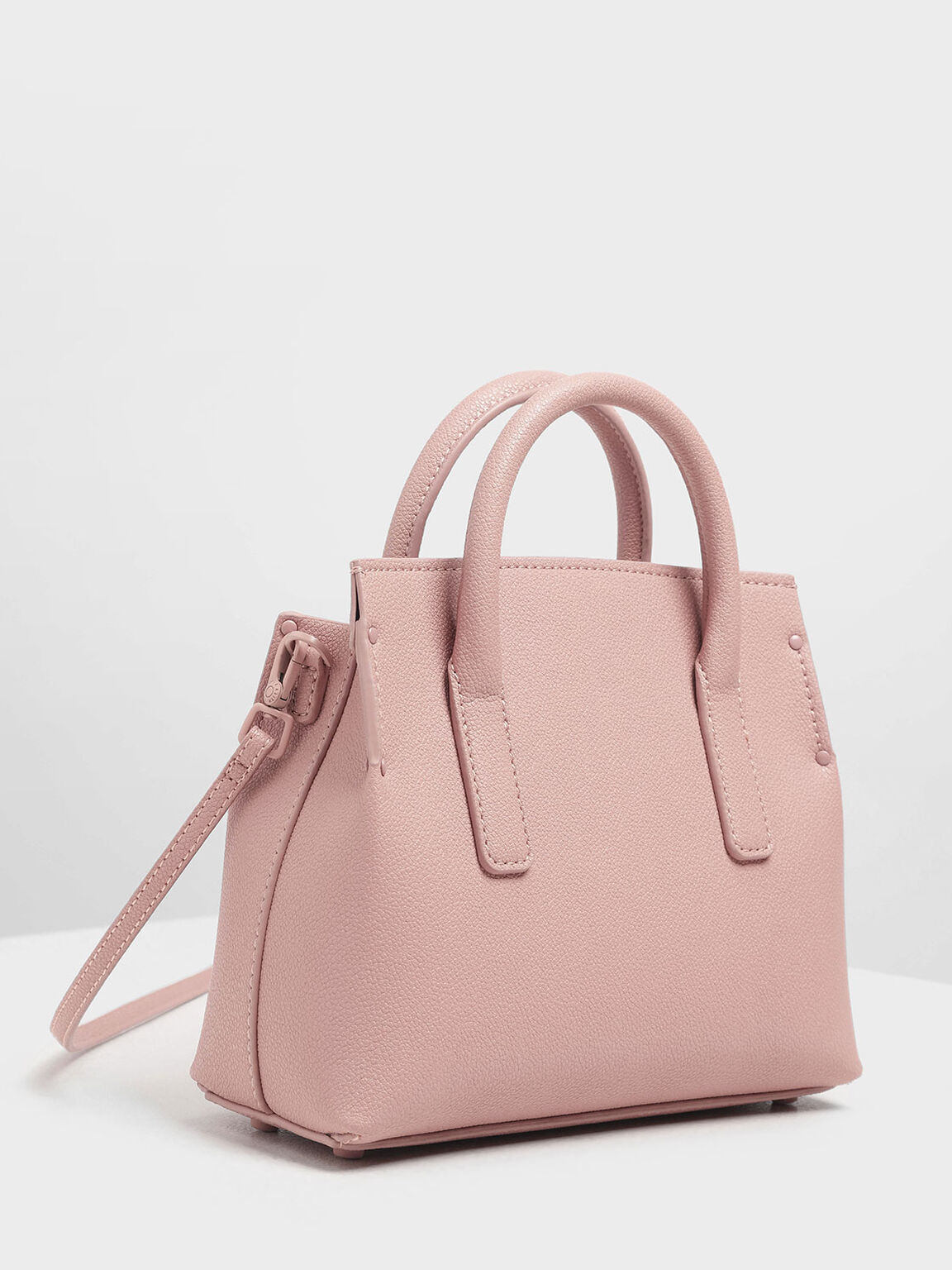 Tuck-In Flap Structured Bag, Pink, hi-res