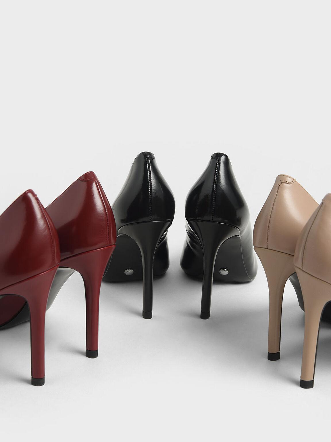 真皮經典高跟鞋, 黑色, hi-res