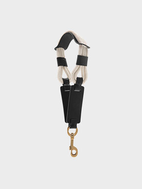 Rope Detail Bag Strap, Black
