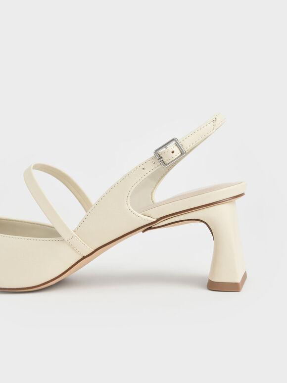 瑪莉珍尖頭跟鞋, 石灰白, hi-res