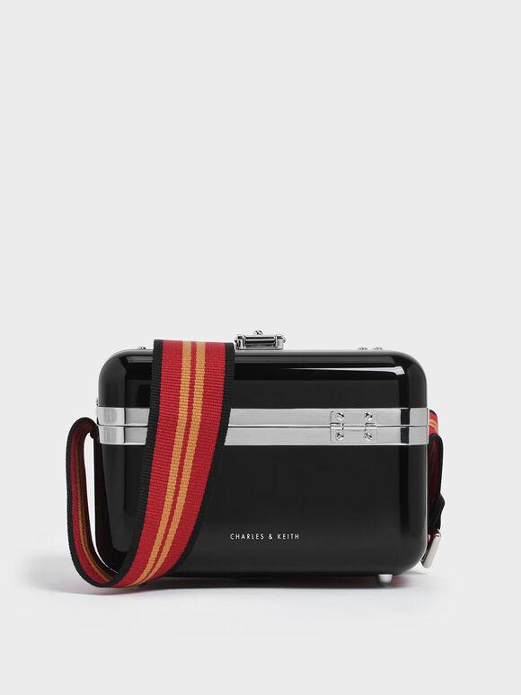 Acrylic Box Bag, Black, hi-res