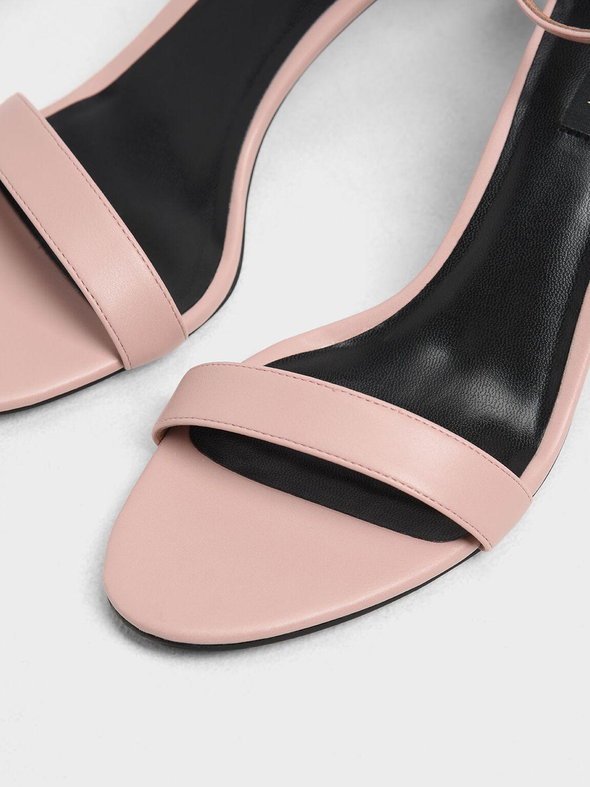 Classic Ankle Strap Heels, Blush, hi-res