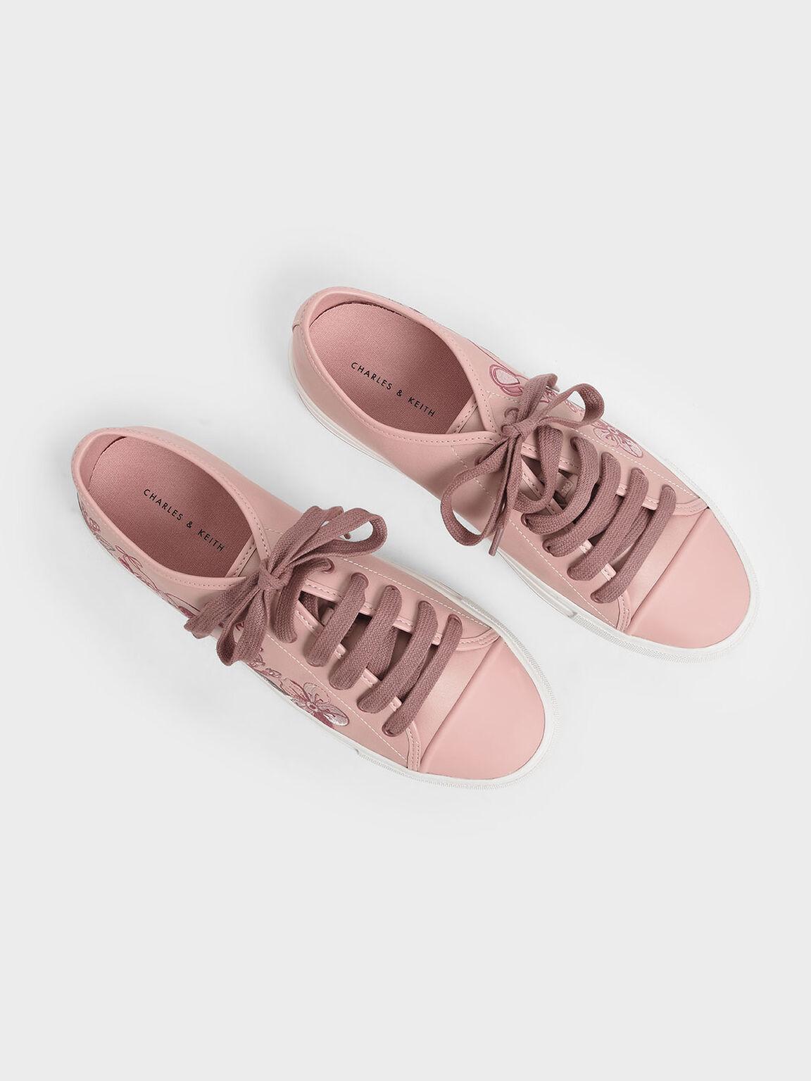 刺繡休閒鞋, 粉紅色, hi-res