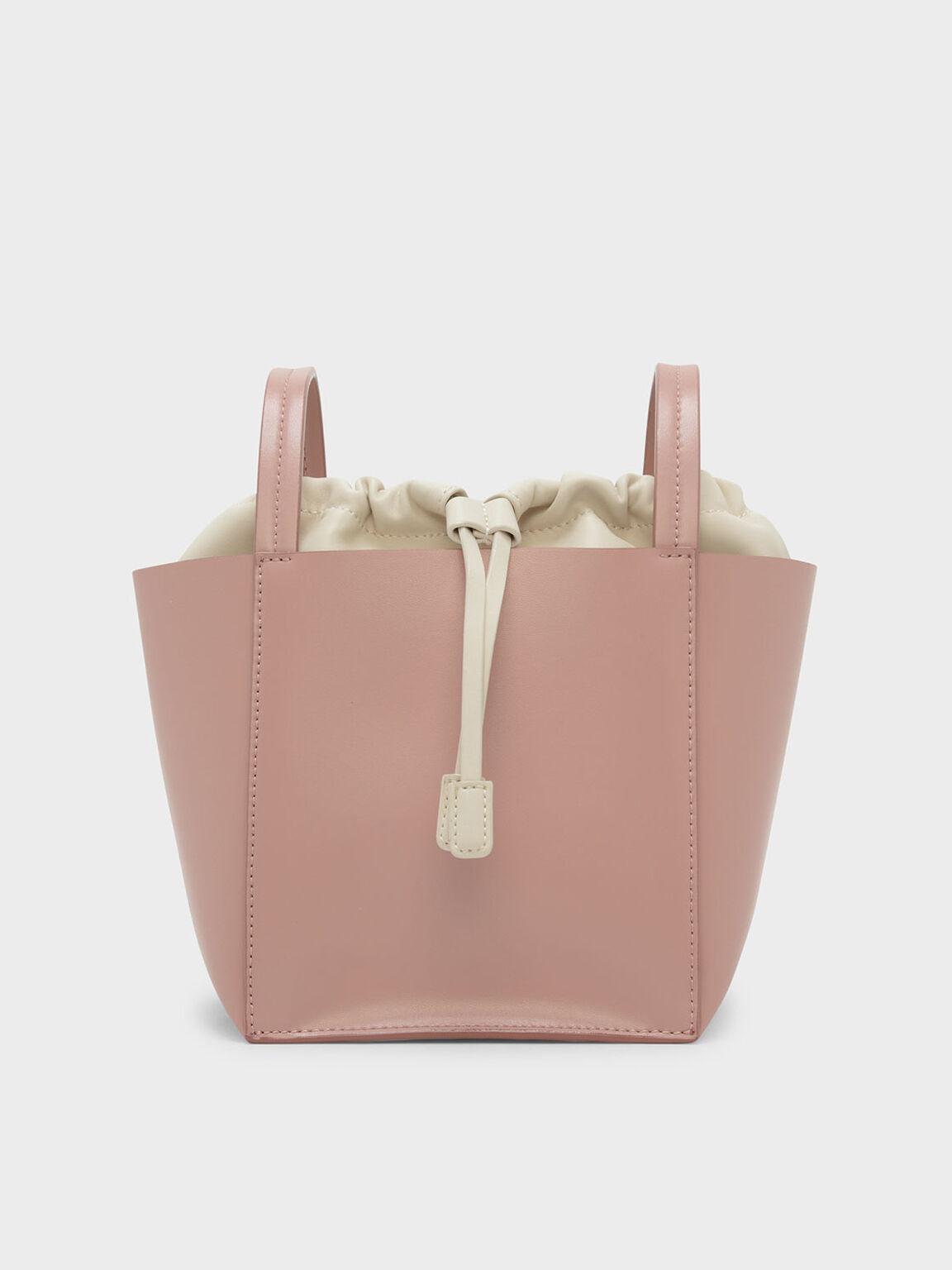 抽繩斜背包, 粉紅色, hi-res