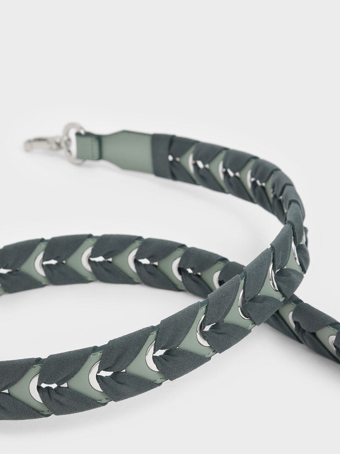 Braided Bag Strap, Sage Green, hi-res