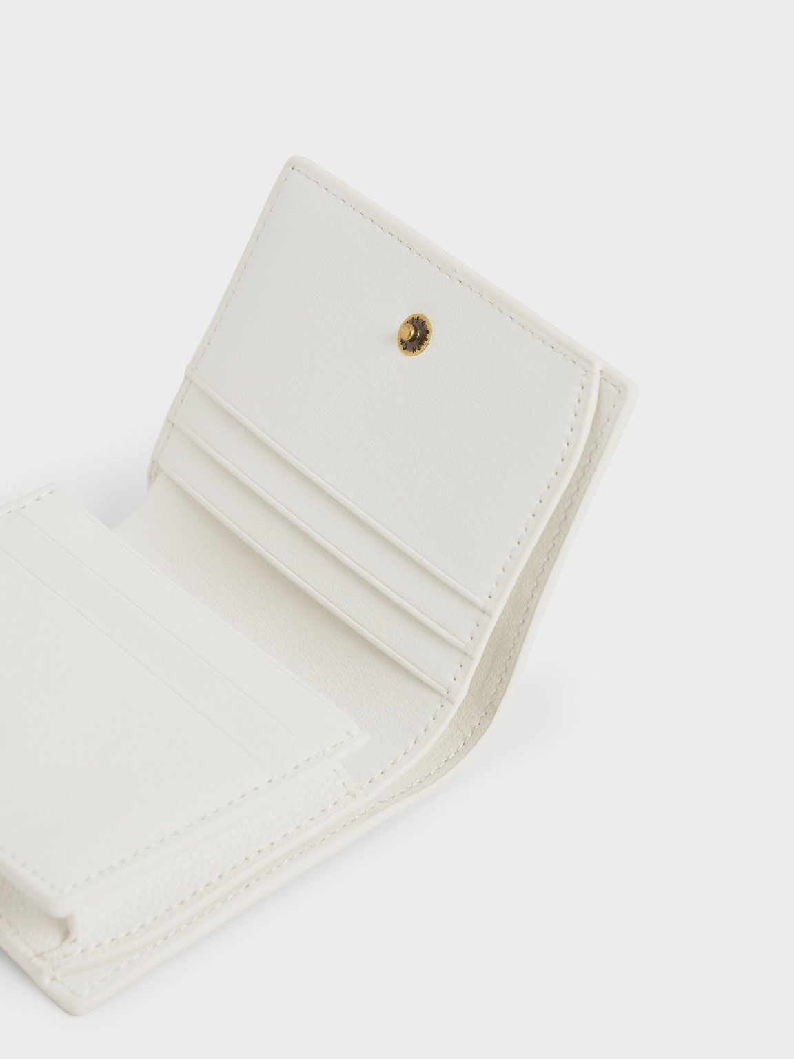 Snap Button Card Holder, White, hi-res