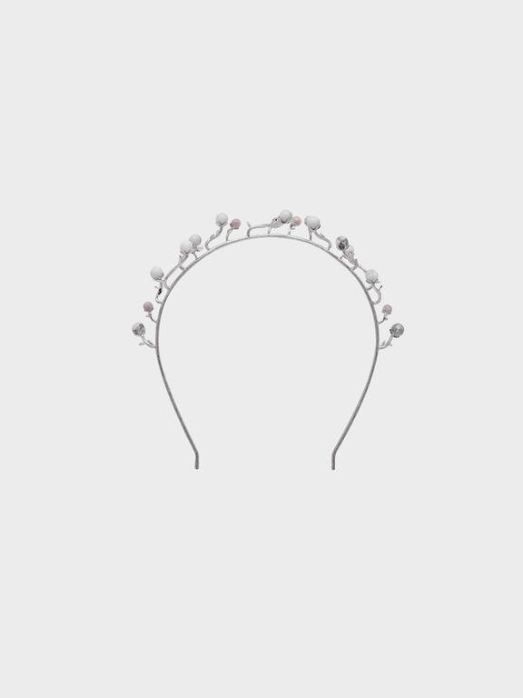 Semi-Precious Stone Headband, White