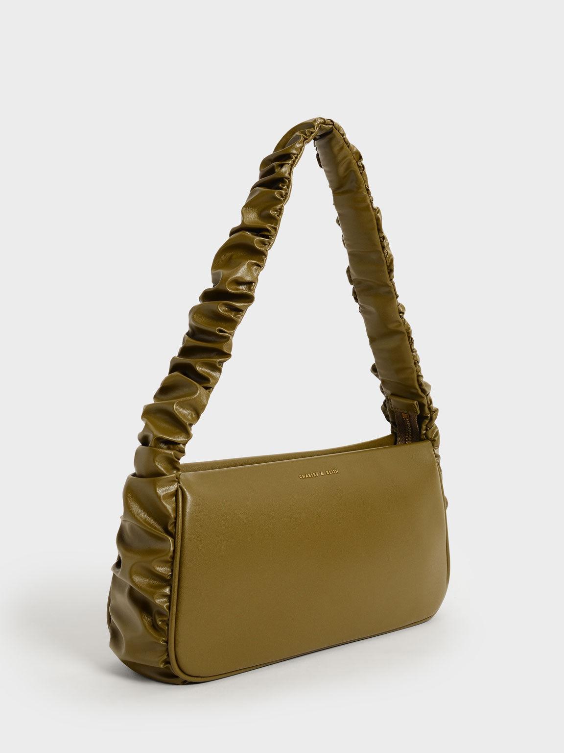 Riley Ruffle-Trim Bag, Olive, hi-res
