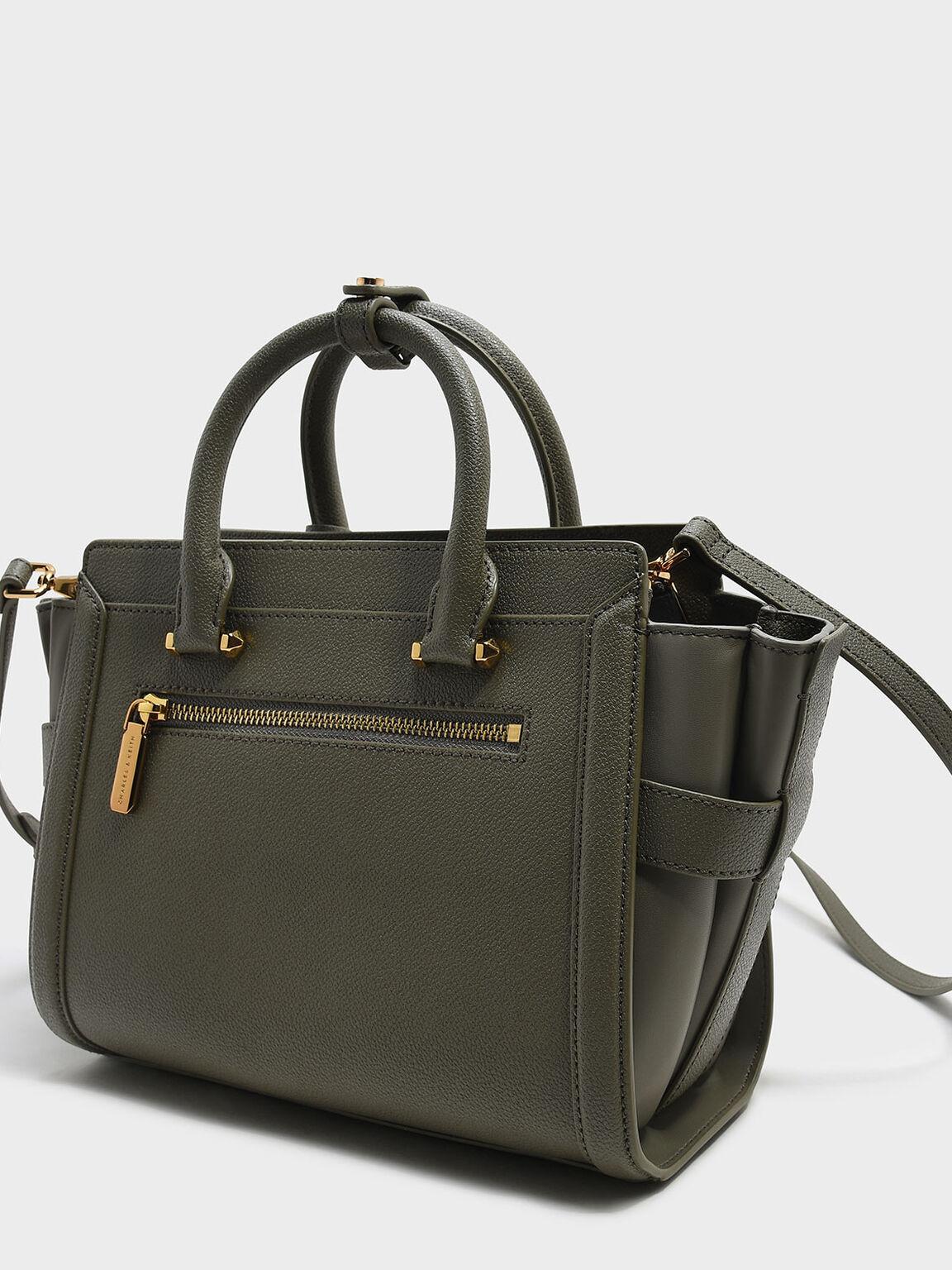 Trapeze Tote Bag, Olive, hi-res