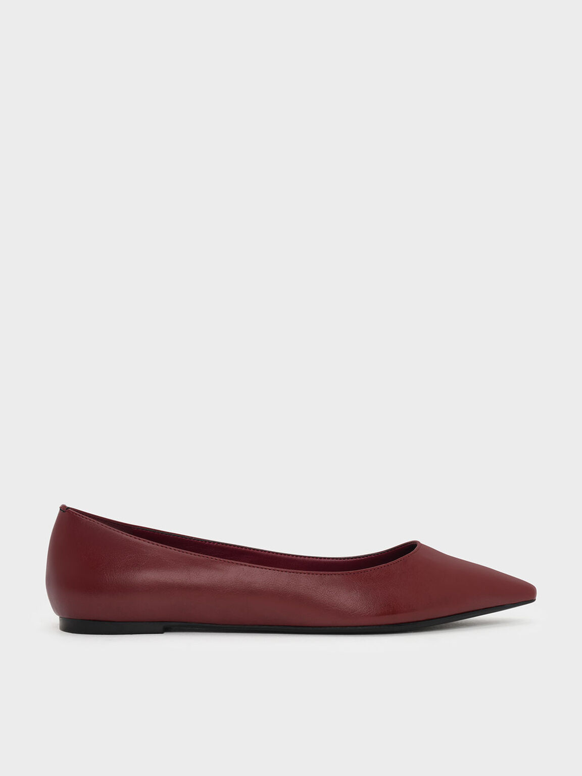 Classic Pointed Ballerinas, Red, hi-res