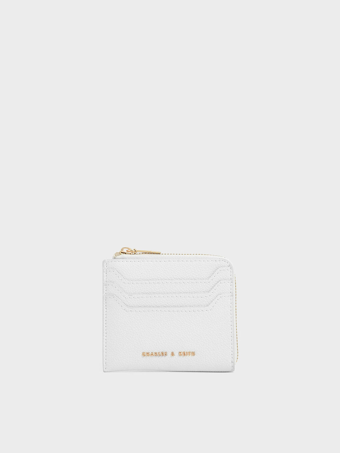 Small Zip Pouch, White, hi-res