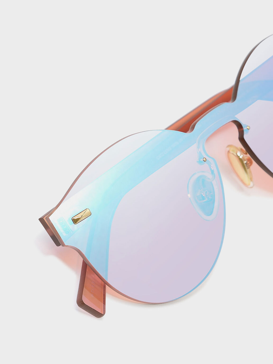 Oval Sunglasses, Pink, hi-res