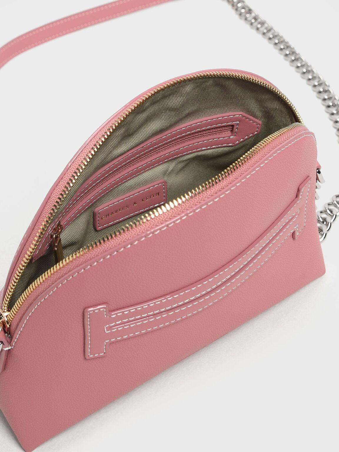 Half Moon Crossbody Bag, Pink, hi-res
