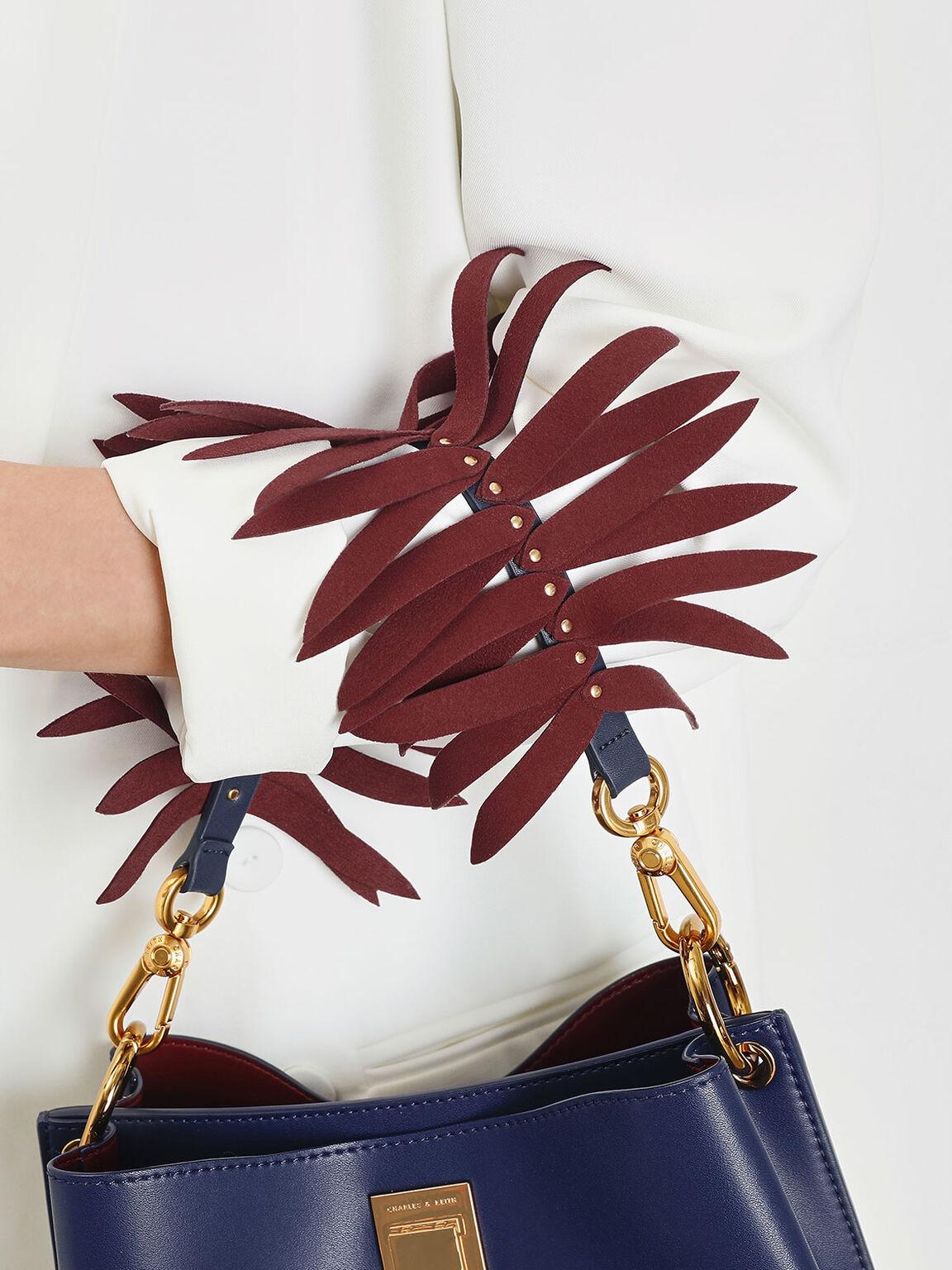 Flare Fringe Mini Bag Strap, Brick, hi-res