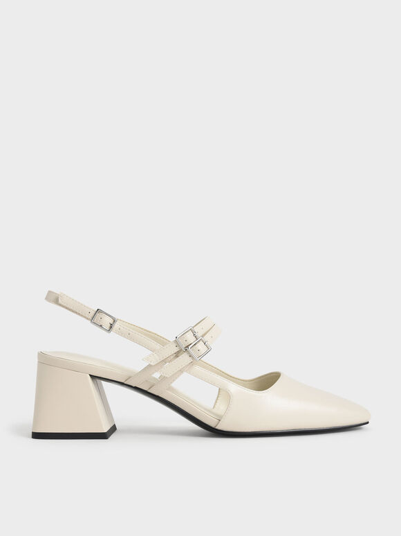 Double Strap Slingback Mary Janes, Chalk, hi-res