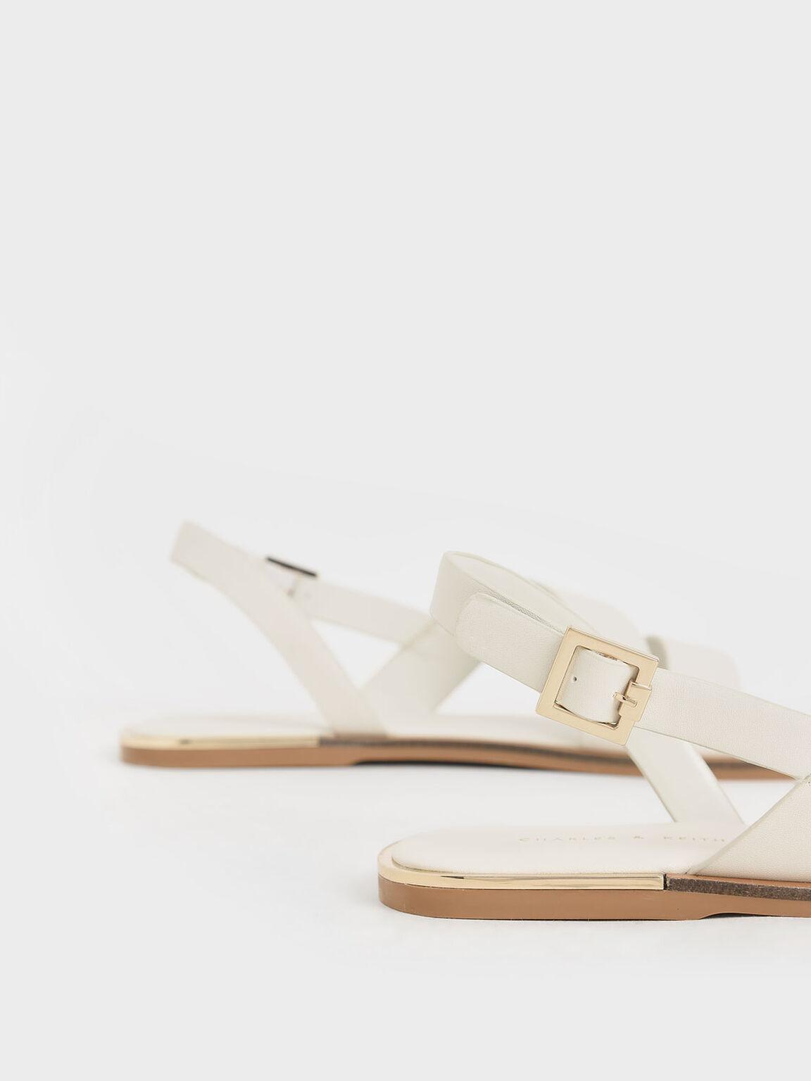 幾何雙帶涼鞋, 石灰白, hi-res