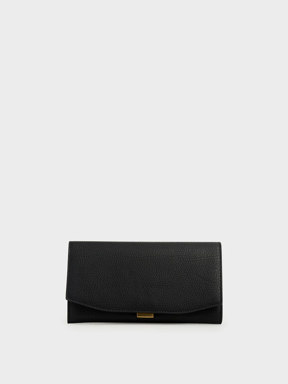 Mini Long Wallet, Black, hi-res