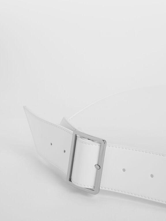 Classic Saddle Bag, White