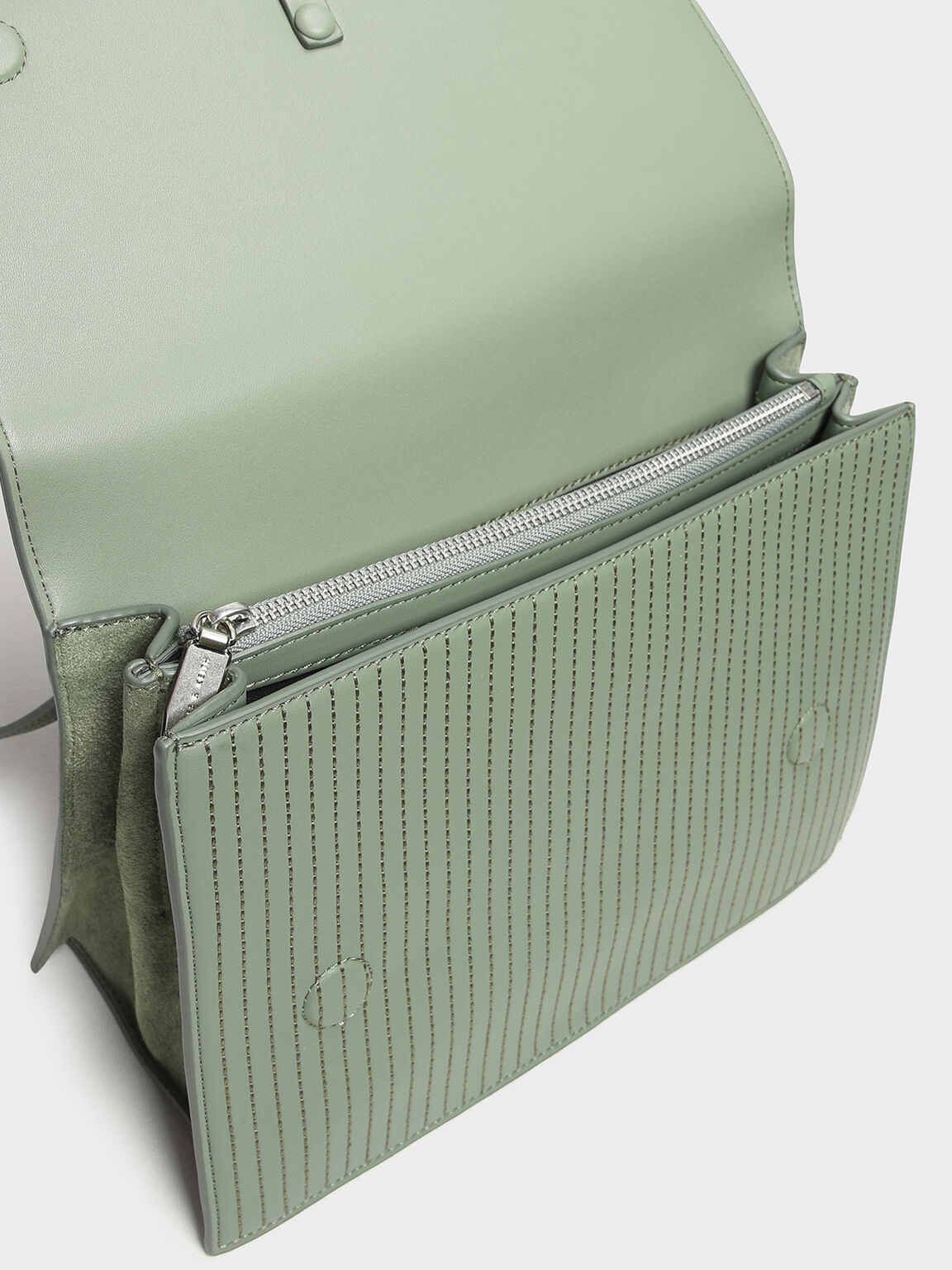 Knotted Detail Handle Bag, Sage Green, hi-res