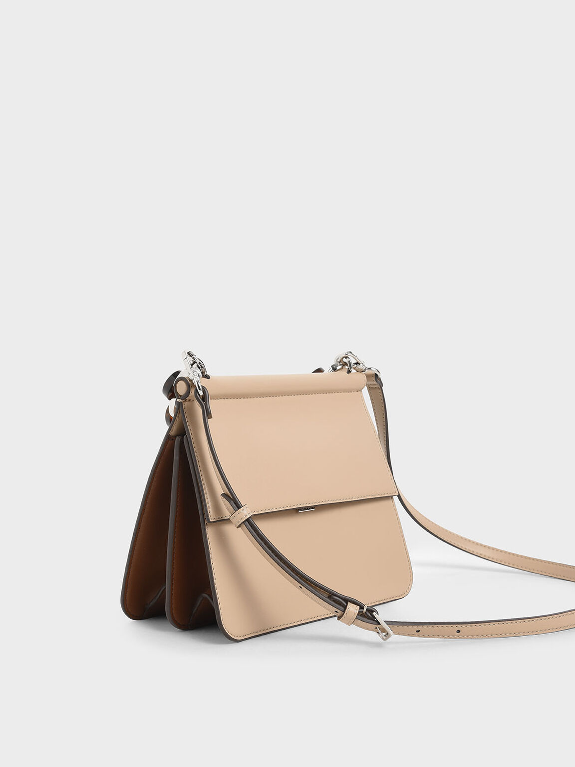 Acrylic Tortoiseshell Top Handle Bag, Beige, hi-res