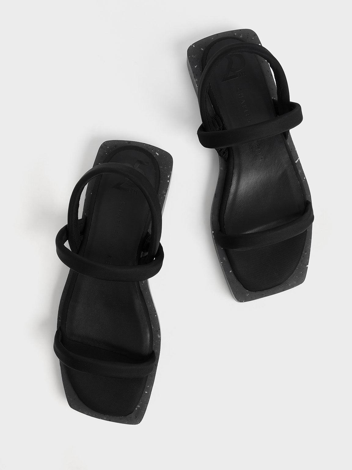 週年限定款:Arabella 尼龍一字涼鞋, 黑色, hi-res