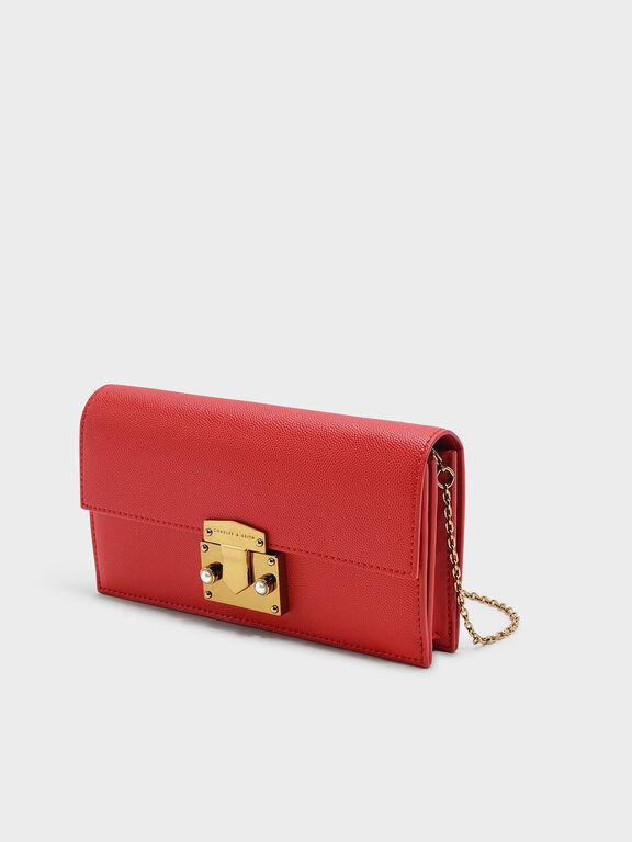 Push-lock Wallet, Red