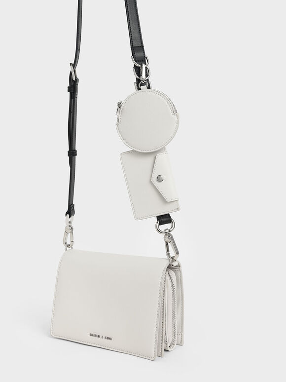 Multi-Pouch Crossbody Bag, White, hi-res