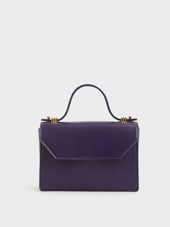 Mini Top Handle Clutch, Purple, hi-res