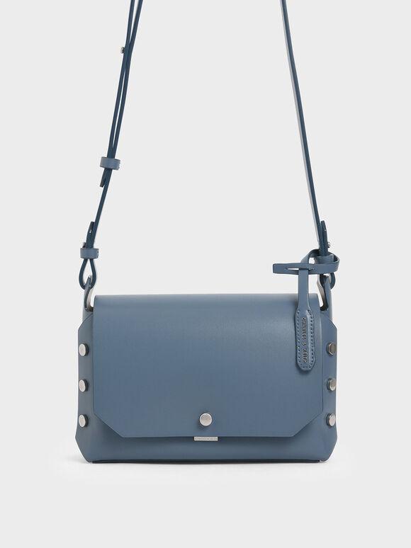 Reversible Front Flap Crossbody Bag, Blue, hi-res