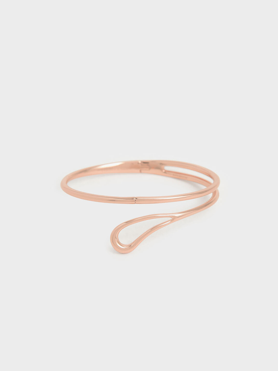 Sculptural Cuff Bracelet, Rose Gold, hi-res