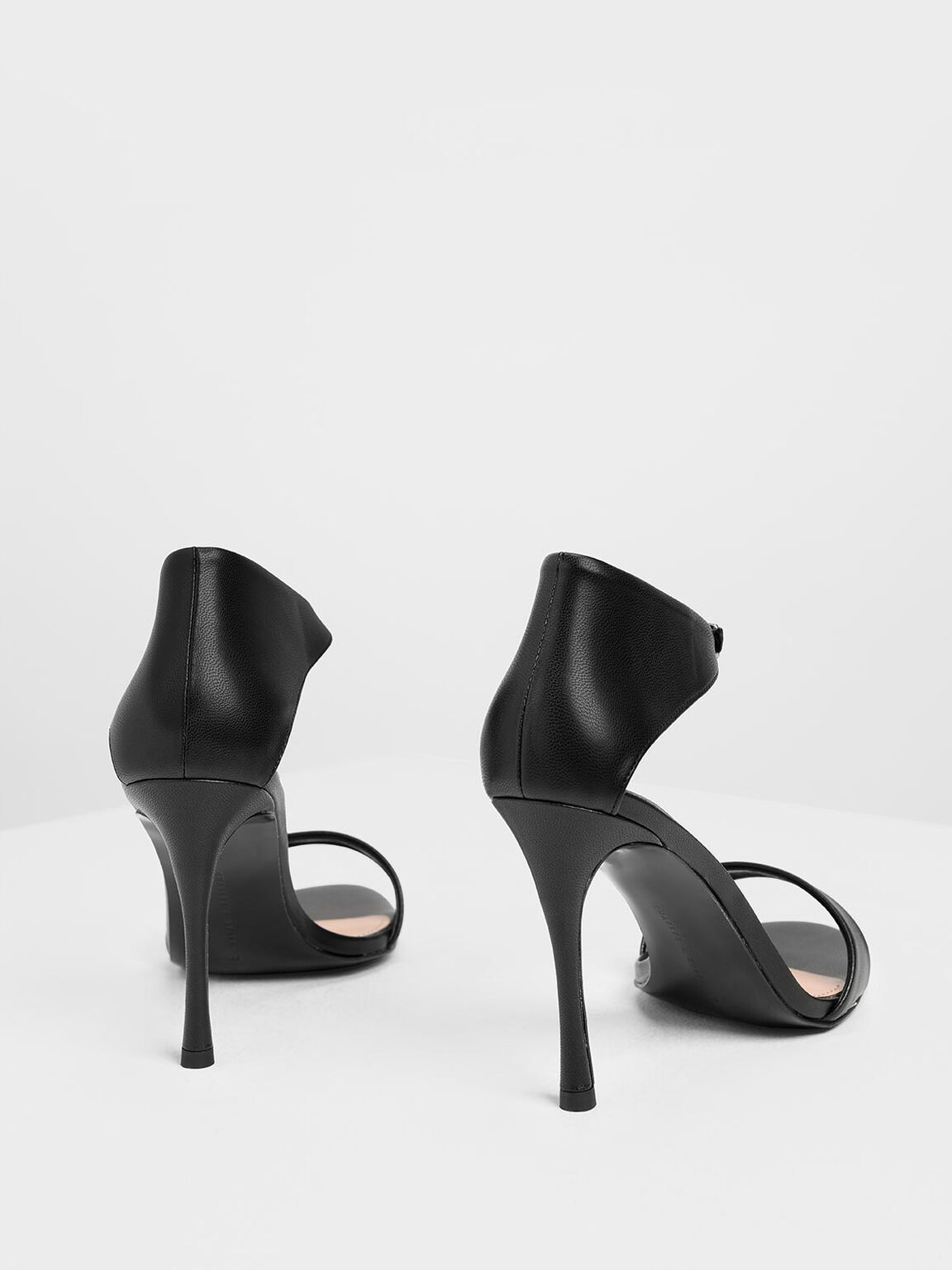 Front Buckle Heels, Black, hi-res