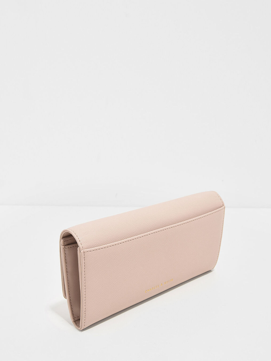 Metal Bow Wallet, Nude, hi-res