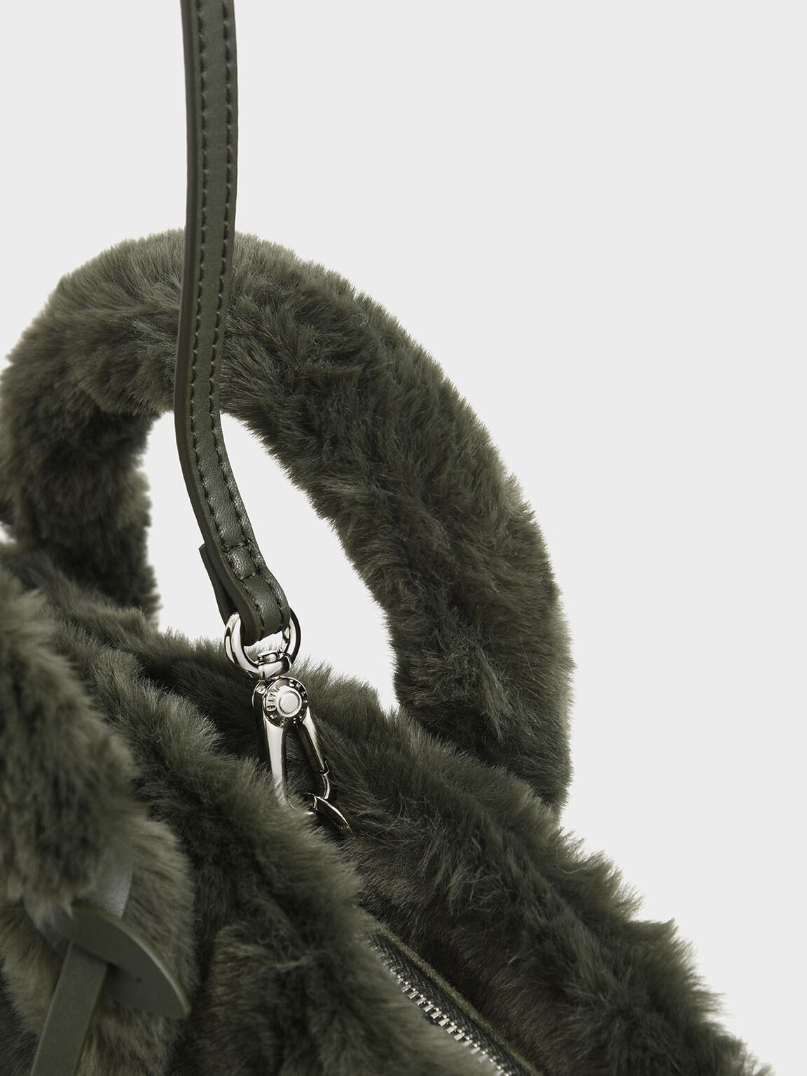 Textured Trapeze Bag, Olive, hi-res