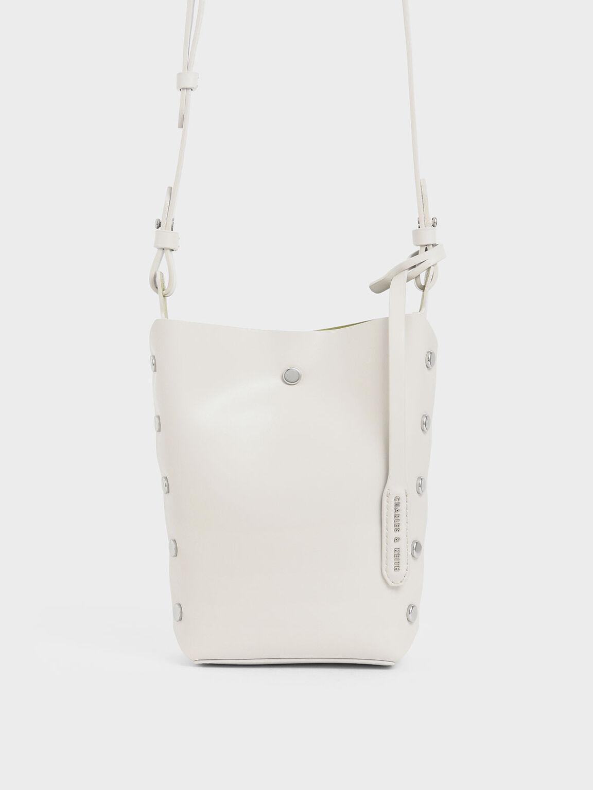 Mini Reversible Studded Crossbody Bag, Cream, hi-res