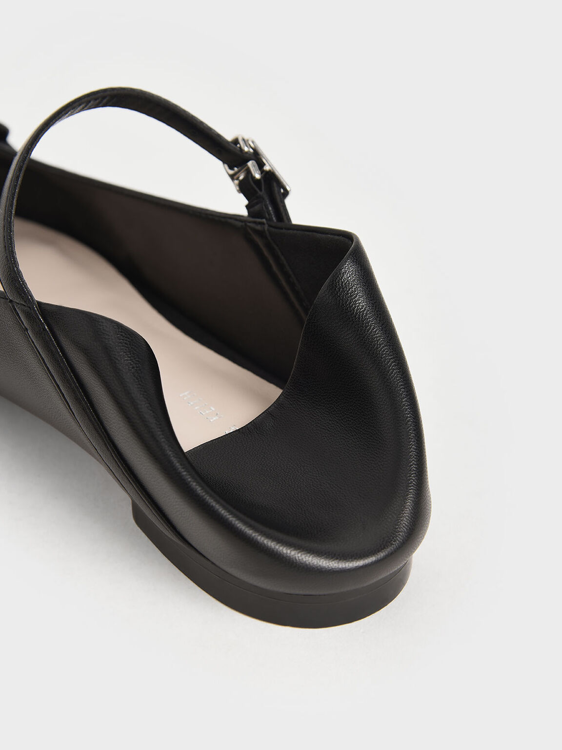 Chain Link Mary Jane Flats, Black, hi-res
