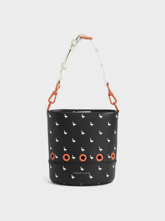兒童天鵝水桶包, 黑色特別款, hi-res