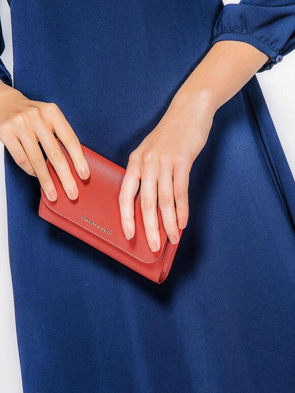 Front Flap Wallet, Brick, hi-res