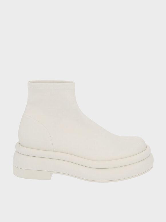 Nola 厚底短靴, 石灰白, hi-res