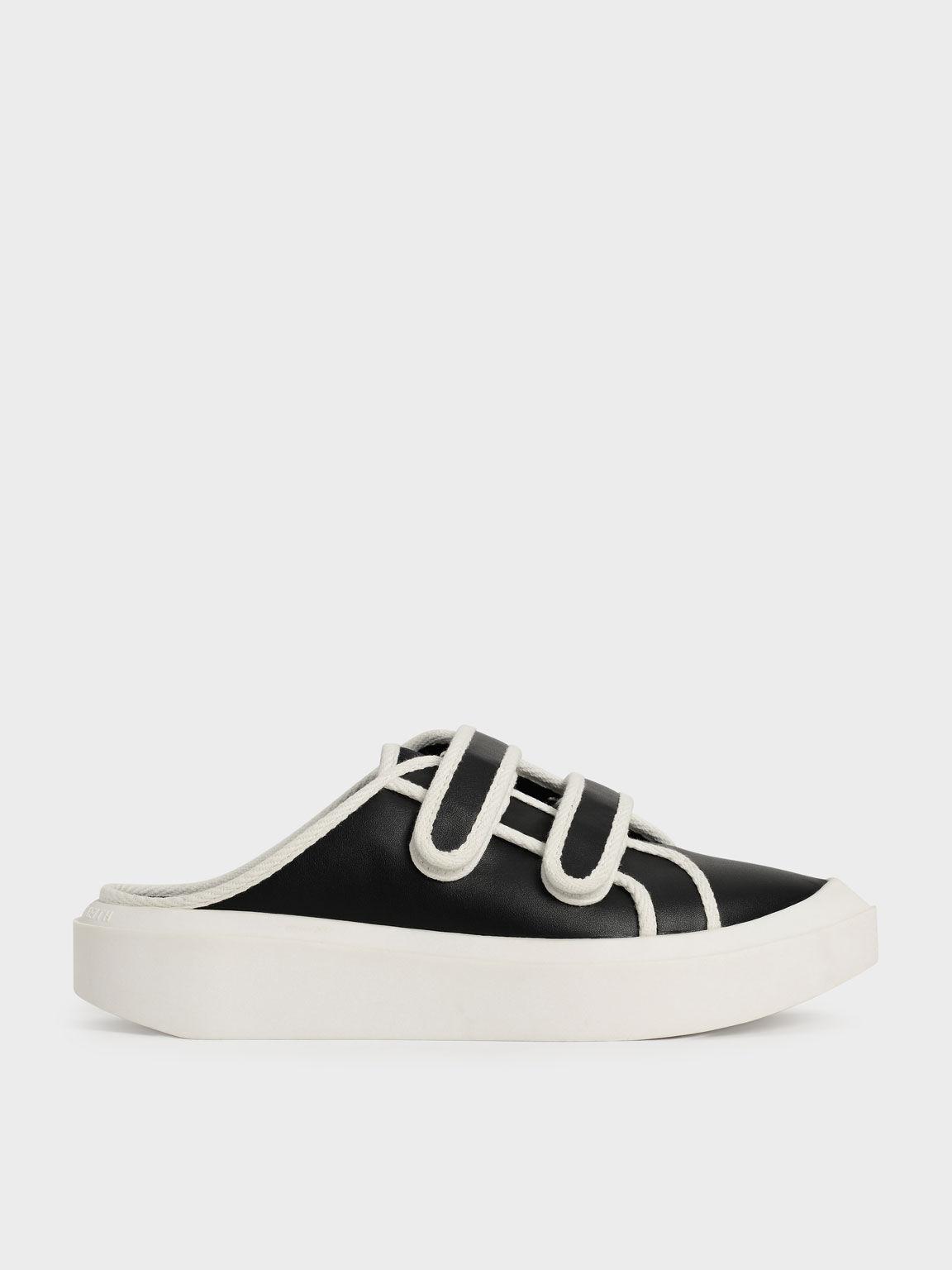 厚底尖頭懶人鞋, 黑色, hi-res