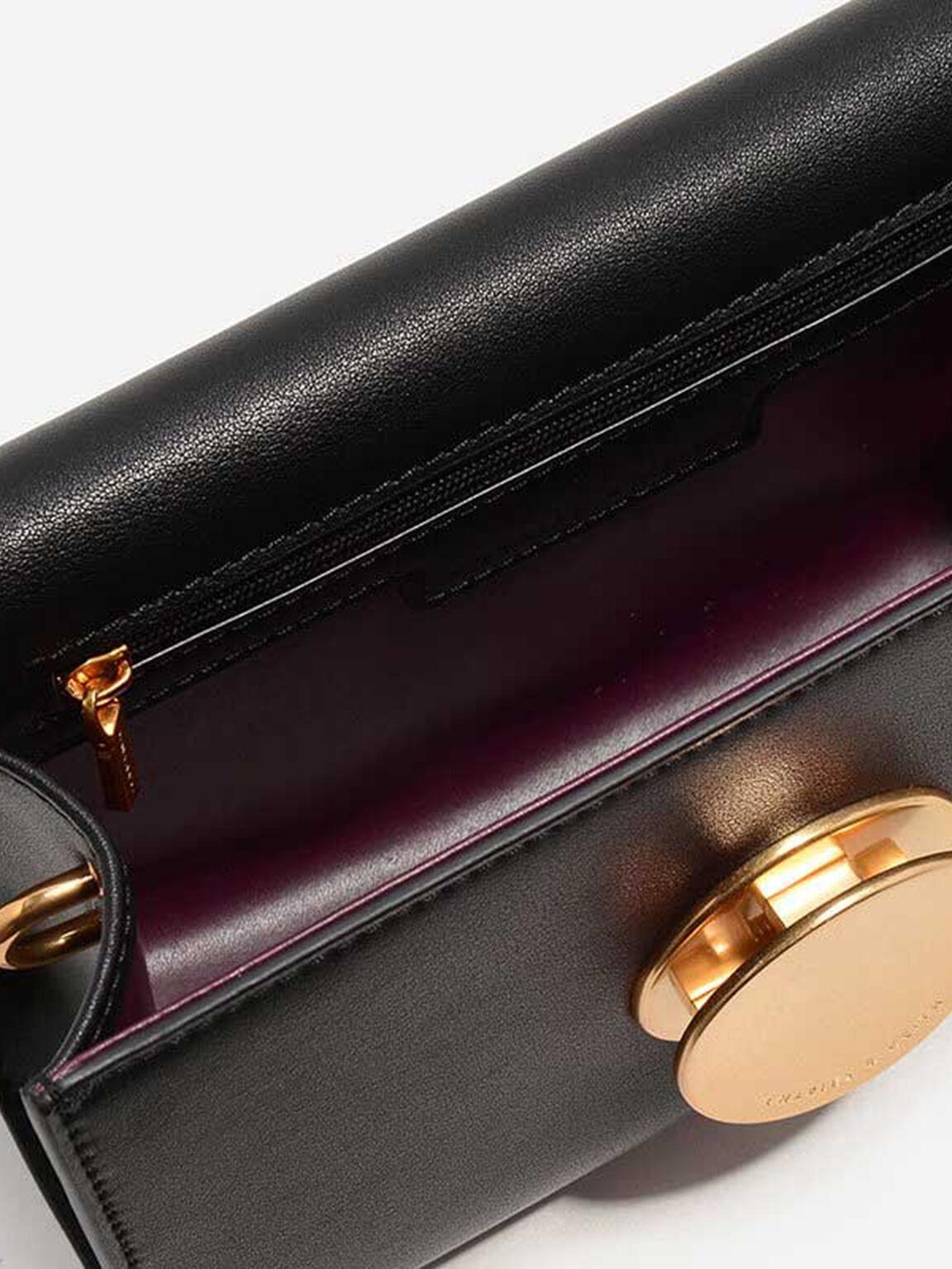 Grommet Sling Bag, Black, hi-res