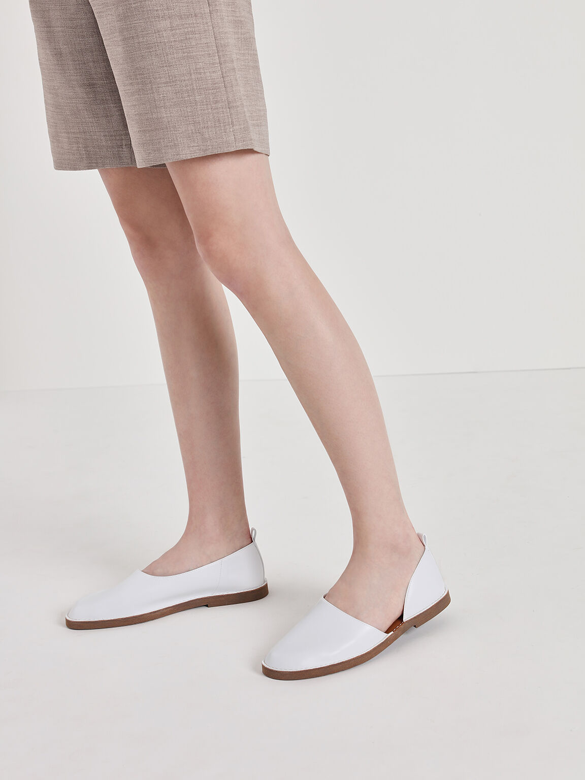 D'Orsay Loafers, White, hi-res