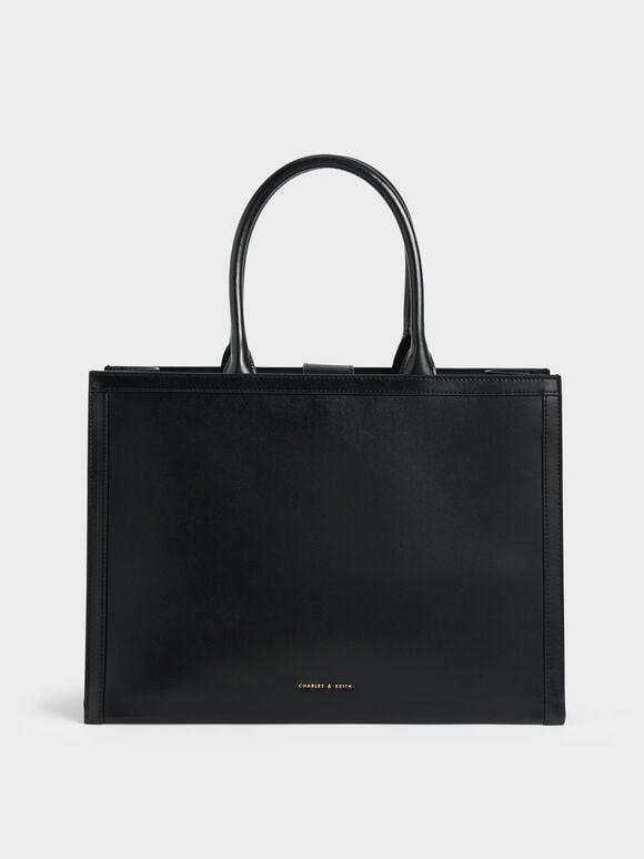 Charlot Tote Bag, Black, hi-res