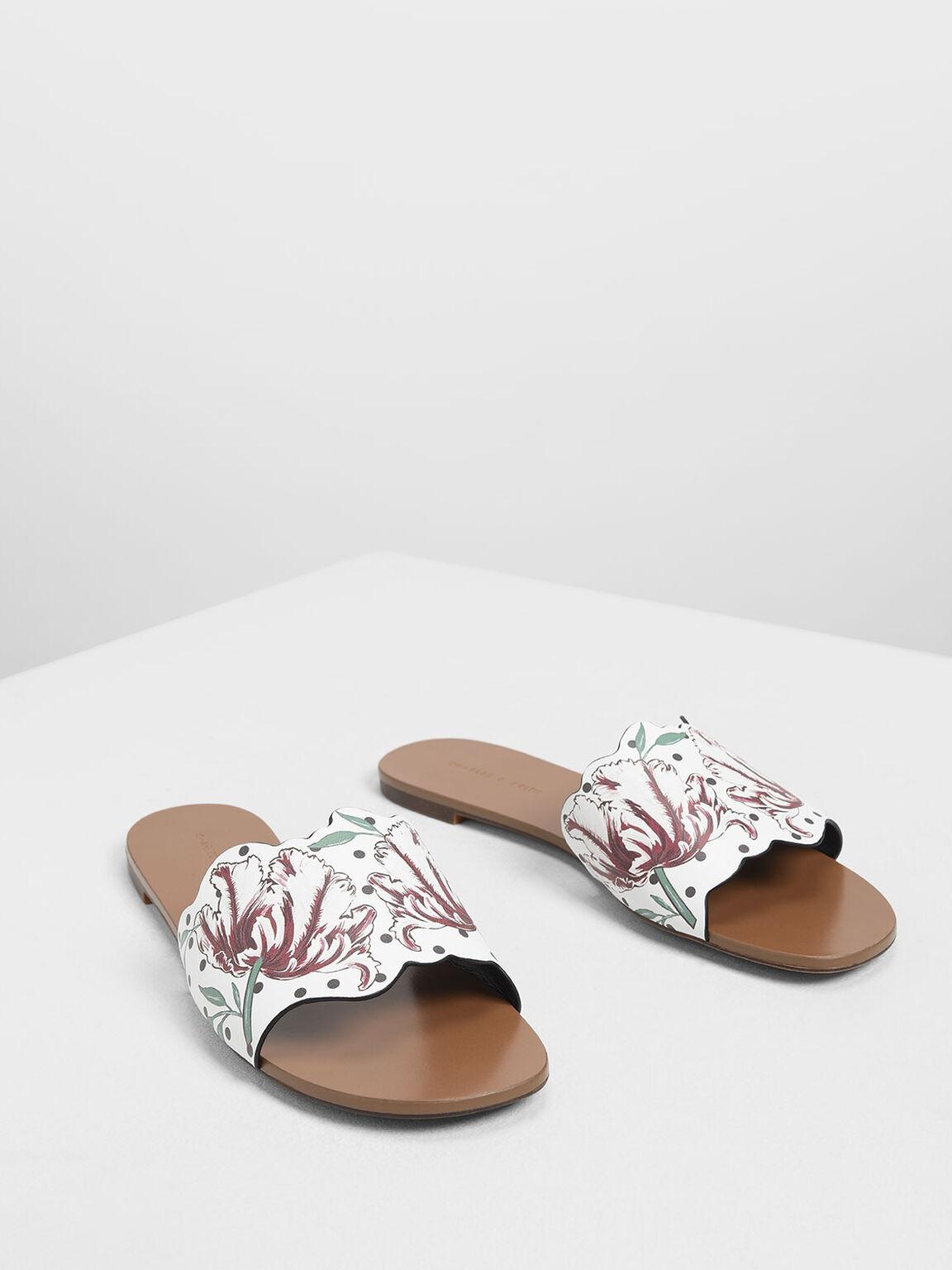 Floral Sliders, White, hi-res