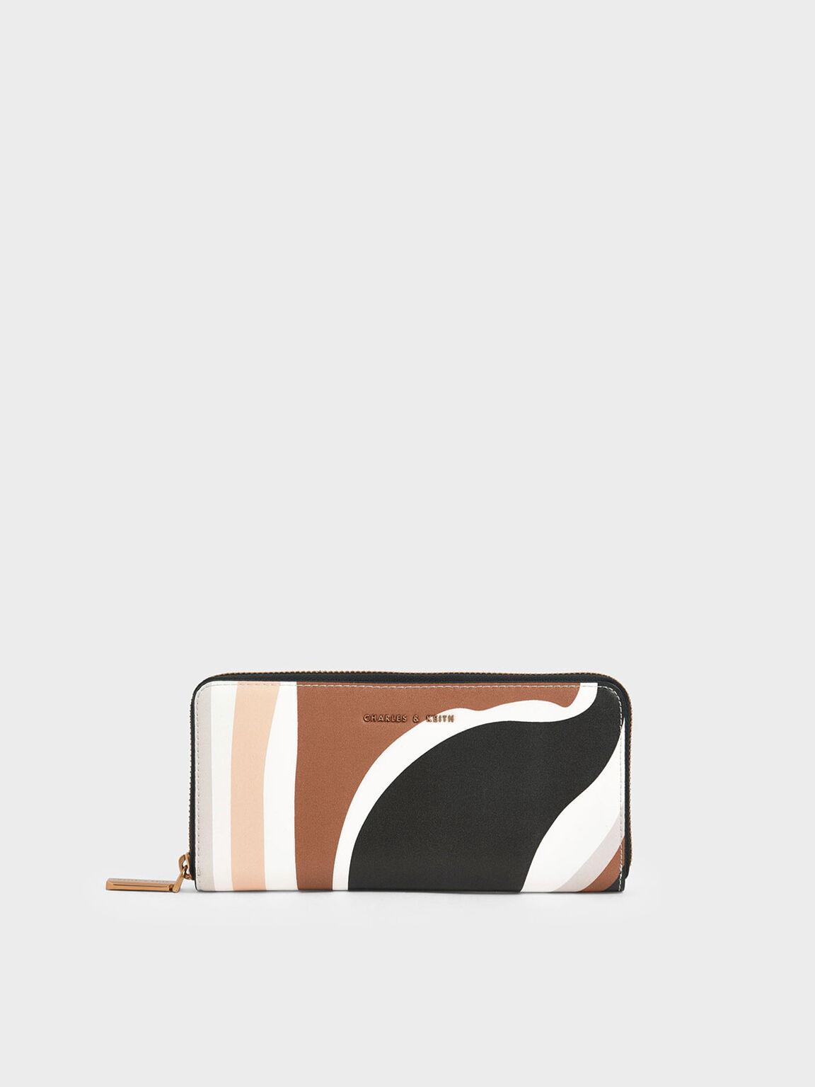 Printed Mini Long Wallet, Multi, hi-res