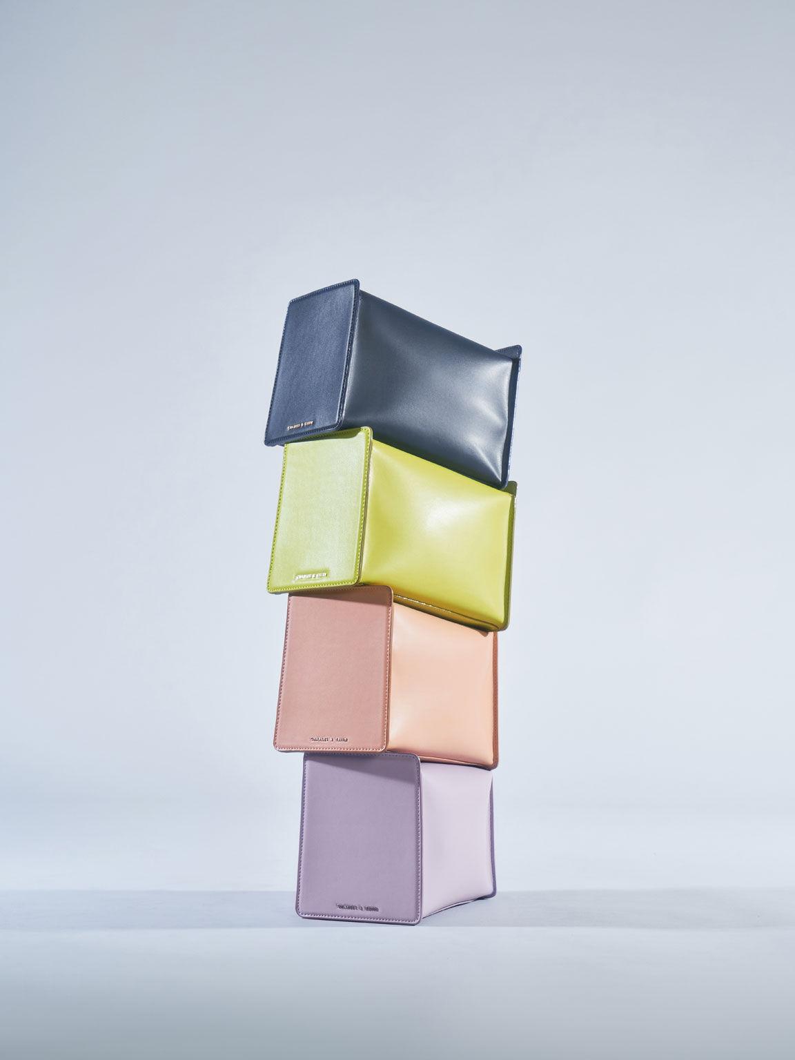 方形軟質單肩包, 萊姆色, hi-res