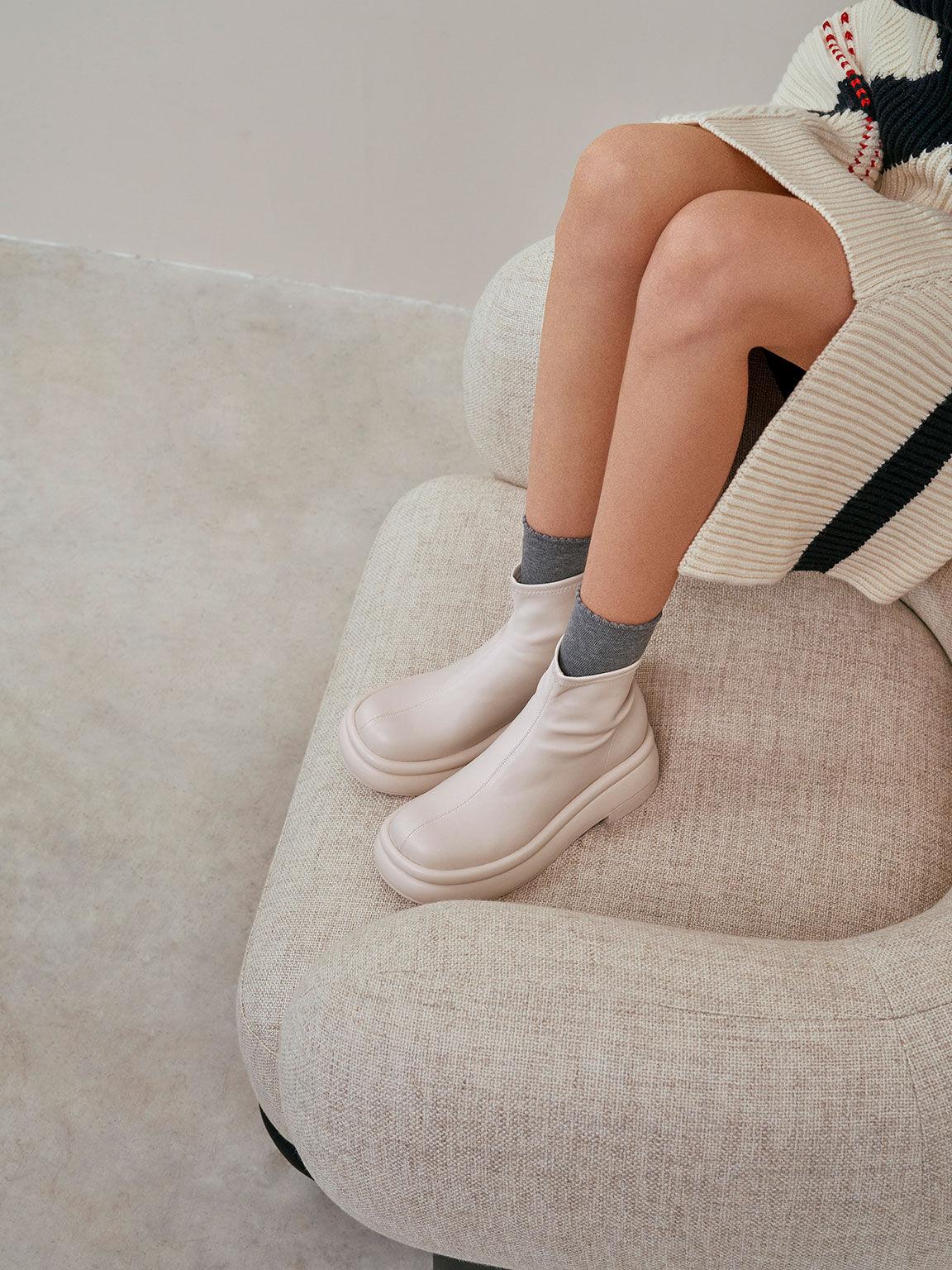 Nola Slip-On Ankle Boots, Chalk, hi-res