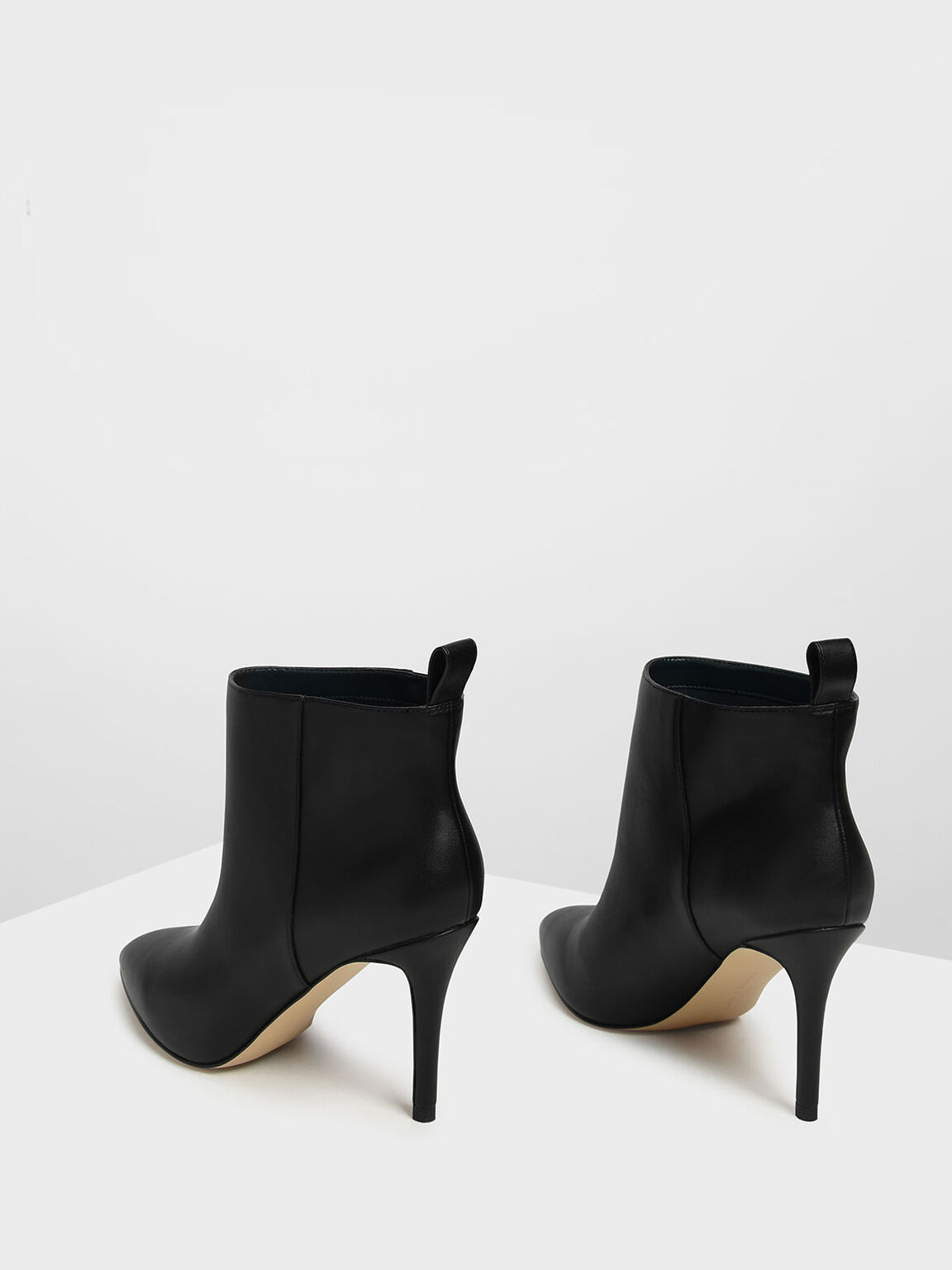 Pointed Toe Stiletto Ankle Boots, Black, hi-res