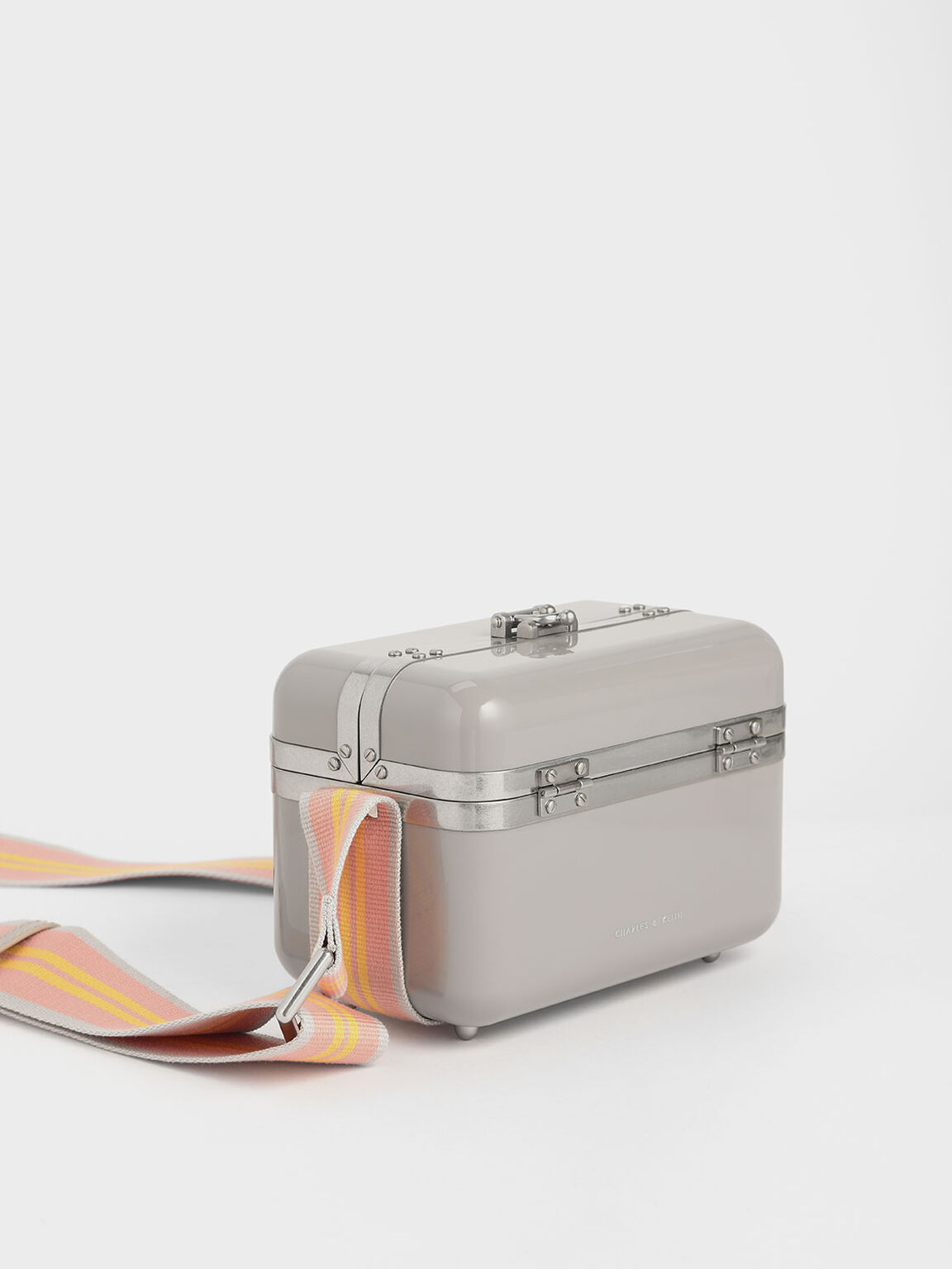 Acrylic Box Bag, Grey, hi-res